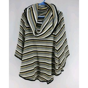 New Directions Cowl Neck Shawl Sweater